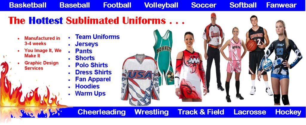 SUBLIMATED TEAM APPAREL FROM AUO